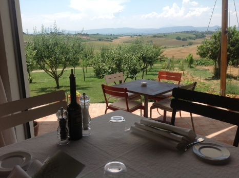 The view from our luncheon table at Avignonesi.
