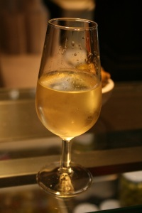 Fino in a traditional copita glass.