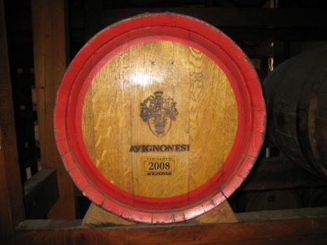An Avignonesi Vin Santo barrel.
