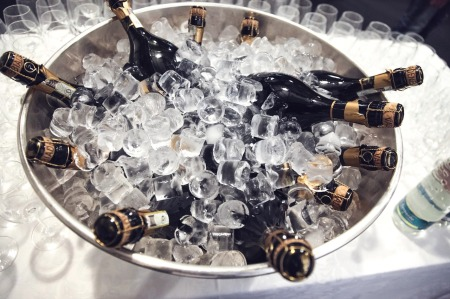 If you really want to chill your wine, make sure there's water as well as ice in the bucket. Credit: Pixabay.